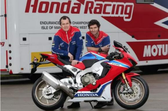 Guy Martin Honda racing 2017