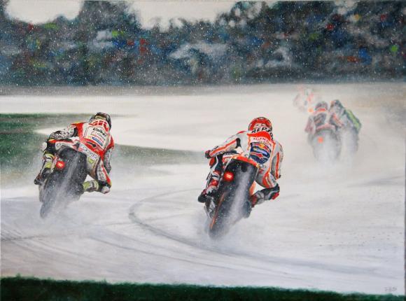 Marquez, MotoGP festmény, kép, fotó