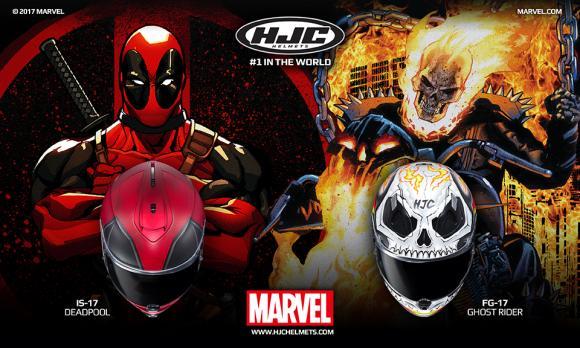 HJC Deadpool és Ghost Rider bukósisak