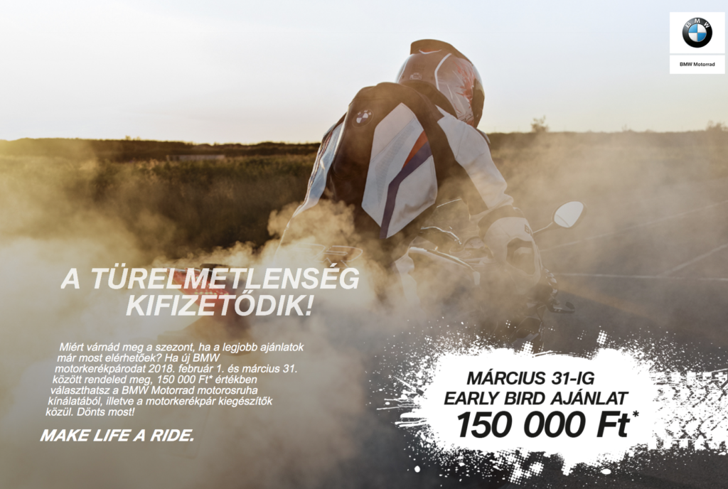 BMW Motorrad Early Bird ajánlat
