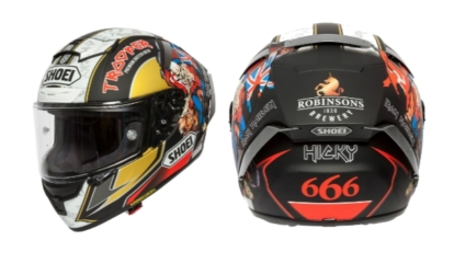SHOEI X-SPIRIT 3 - Hickman Trooper 2018 Replica Helmet