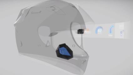 Univerzális head-up kijelző ami bármilyen sisakra telepíthető