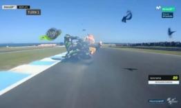 Zarco közel 300 km/h-nál érte utol Marquezt