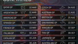 MotoGP 2019 - versenyidőpontok