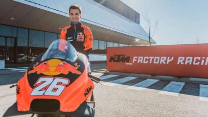 Dani Pedrosa végre a KTM nyergében