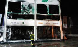 Leégett a MotoE paddock épülete benne az összes elektromos versenymotorral Jerezben