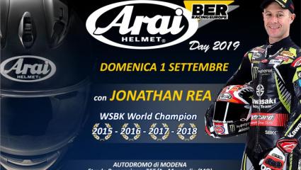 Arai nap lesz Modenában, ahol találkozhattok Jonathan Rea motorversenyzővel