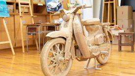 Honda Super-Cub kartonból