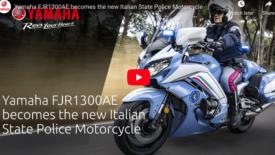 Az Olasz Állami Rendőrség újra az Yamaha FJR1300AE típusra szavazott