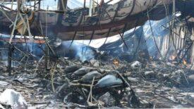 Több száz Kawasaki égett el egy tűzben