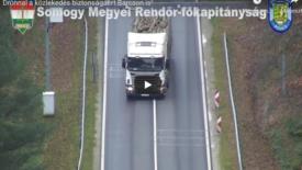 Már drónnal is ellenőrzik a szabálytalan gépjárművezetőket