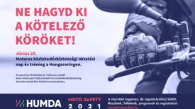 A HUMDA ingyenes vezetéstechnikai tréninget szervez több száz motorosnak